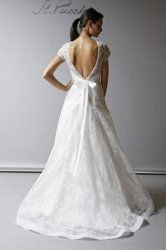 dress wedding dress white romantic gown elegant bow embroidery Wedding Gown openback short sleeve fall 2013 lavish st pucchi 364 Spring