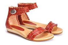 Pikolinos Alcudia Ankle Strap Leather Sandals Red Summer Bohemian Boho Chic #Pikolinos #AnkleStrap