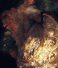 """'The Man with the Golden Helmet"""" (detail), c. 1650, by Rembrandt van Rijn (Dutch, 1606–1669)."""