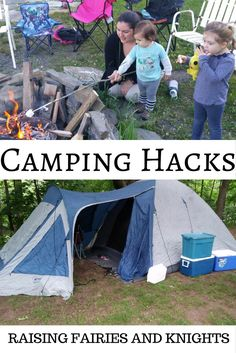 Camping Hacks - Going camping is so much fun! But challenging with young kids. Try these Camping Hacks with kids to make your life easier and camping more fun!