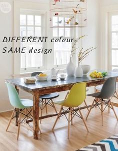 modern different colour dining room chairs how to mix interior designers hills district sydney