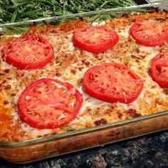 Tasty and (Mostly) Healthy Recipes: Cheesy Spaghetti Squash & Zucchini Tomato Bake