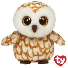 My name is Swoops the #owl! My big eyes can see at night So I can fly around by the moonlight! #BeanieBoo