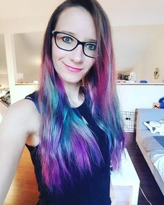 #pinkhair #bluehair #mermaid #ombre #unicorn #unicornhair #mermaidhair