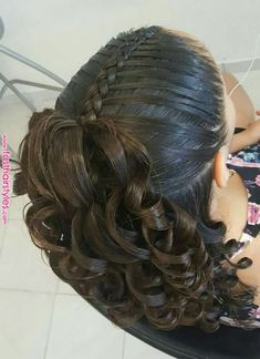 Hair Style Cutting For Girl Baby Girl Hairstyles, Fast Hairstyles, Braided Hairstyles, Kids Hairstyle, Girl Haircuts, Great Hair, Love Hair, Curly Hair Styles, Natural Hair Styles