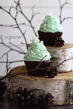 Chocolate Mint Cupcakes | Vegazone | Recipe in Polish