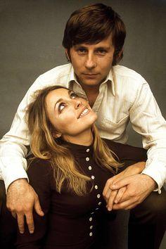 Sharon Tate and Roman Polanski.