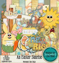 An Easter Sunrise, Easter Scrapbook, Easter kit, Digital Scrapbook Kit, Digital Scrapbook