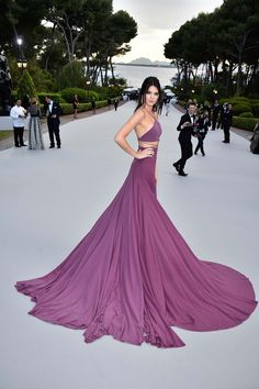 Kendall Jenner in Calvin Klein Collection: - We know it can be hard to keep up with the first family of reality television but Jenner has conquered every catwalk from New York to Milan and appeared in countless ads for many major brands. However, it was during her solo time at Cannes where she donned frocks from