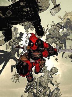 Deadpool #1 variant by Chris Bachalo. Some of the greatest Deadpool art I've ever seen.