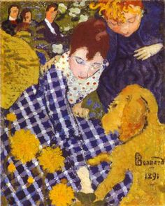 Woman with Dog by Pierre Bonnard - 1891 (another member of les Nabis). Description from pinterest.com. I searched for this on bing.com/images