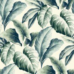 Gold Green Palm Leaf Wallpaper | Departments | DIY at B&Q