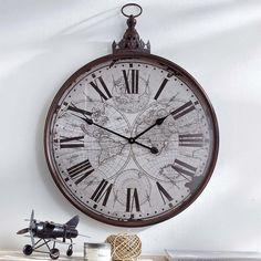 Wanduhr Antik, Wanduhr Metall, Antike Wanduhr, Vintage Wanduhr Strauss Innovation, Home Board, Flat Ideas, Retro, Accessories, Tic Tac, Wall Clocks, Medium, Shabby