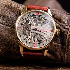 Skeletonized Omega - vintage swiss wristwatch – Patina Original Mens Skeleton Watch, Vintage Omega, Custom Leather, Unisex, The Originals, Accessories, Jewelry Accessories