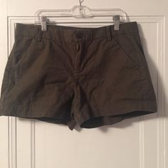 Army Green Khaki Shorts Army green khaki shorts from The Gap. Super flattering and comfortable. Perfect for the summer months. GAP Shorts Skorts