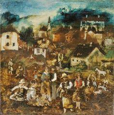 """Huber Ernst ( 1895- 1960 ) """"Dorffest"""""""