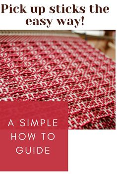 Learn how to use pick up sticks with your rigid heddle loom for endless pattern possibilities!