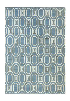 Tapete Kilim Otto Light Blue 297 x 205 cm - Tapetes