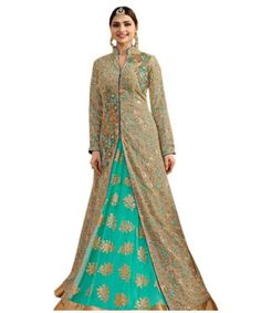 Shoponbit New stylish Georgette With Lehenga Embroidered Anarkali Suit | I found an amazing deal at fashionandyou.com and I bet you'll love it too. Check it out!