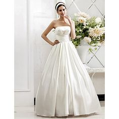 Lanting Bride® A-line / Princess Petite / Plus Sizes Wedding Dress - Chic