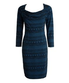 Take a look at this CeMe London: Blue & Black Rae Dress by CeMe London on #zulily today!