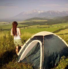 Camping #mountains #tent #dreadlocks