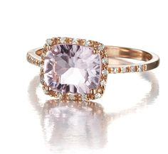 Rose gold amethyst ring 14k #heavenly treasures #rose gold ring #engagement ring