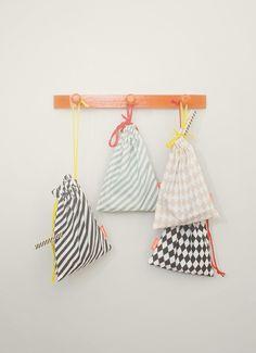 Cloth Pin Stripe Bags