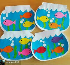 fish crafts for toddlers preschool crafts Kids Crafts, Sea Crafts, Daycare Crafts, Summer Crafts, Toddler Crafts, Arts And Crafts, Sea Animal Crafts, Summer Art Projects, Toddler Art