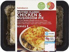 I adore mash potato-topped chicken and mushroom pie.