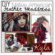 DIY Native American Feather Headdress
