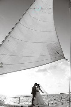 Sailboat Wedding in Grand Cayman shot by Rebecca Davidson