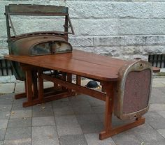 1929 Ford Model A Pick-Up table Rat Rod office by RatRodPlank