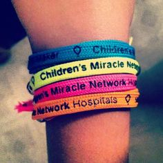 Children's Miracle Network Hospitals bracelets.