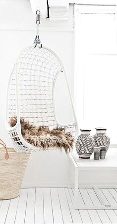 White Wicker Indoor Swing Hanging Chair .jpg