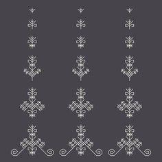 Latvian sign Sun tree Art Print by ivetaozola Hand Embroidery Designs, Embroidery Patterns, Cross Stitch Patterns, Machine Embroidery, Blackwork Patterns, Hawaiianisches Tattoo, Body Art Tattoos, Kasuti Embroidery, Folk Embroidery