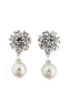 Luminosity Pearl Earrings from Rent the Runway.  Beautiful little pearls