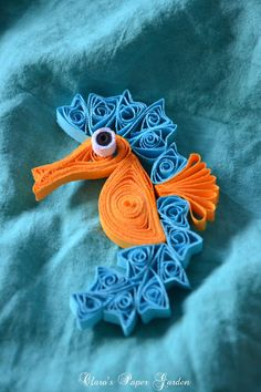 *QUILLING ~ Sea Horse, Clara's Paper Garden: Missing the seaside