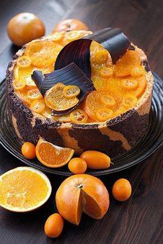 Beautiful chocolate and orange cake