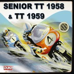 Duke Video released highlights from the Isle of Man TT in 1958, 1959 and 1960 on CD 100 years after its first race, the Isle of Man TT remains the greatest motorcycle race on Earth, and as it enters its second century Duke is offering fans a rare opportunity to own vintage recordings from a golden period of the event's history. The first CD features the Senior TT from 1958 and highlights from the TT of 1959, including practice, the Formula One, Junior and Senior races and more.