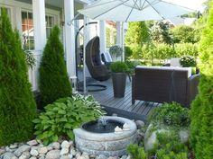 33 landscape design ideas you can implement before the start of autumn! Outdoor Rooms, Outdoor Gardens, Outdoor Living, Outdoor Decor, Patio Pergola, Backyard Landscaping, Rooftop Garden, Balcony Garden, Landscape Design