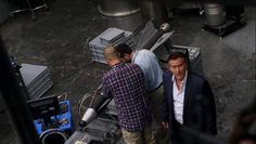 """Burn Notice 5x15 """"Necessary Evil"""" - Sam Axe (Bruce Campbell), Jesse Porter (Coby Bell) & William Resnick (Rick Gomez)"""