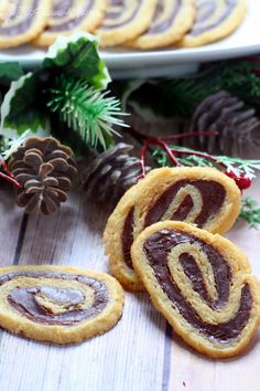 Fudge Butter Cookie Pinwheels Recipe - a delicious homemade cookie recipe made with fudge and butter cookie dough! I make these every Christmas! They're seriously like cookie crack!  From TheGraciousWife.com