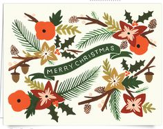 holiday snail mail with postable - love this card from rifle paper co ;)
