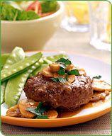 Weight Watchers Salisbury Steak  Serving Size: 1 piece  Points Plus Value: 8
