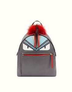 9635dee4fd FENDI BACKPACK - Backpack in fabric and fur - view 1 detail Mochila Fendi