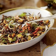 Wild Rice with Bacon and Fennel | MyRecipes.com