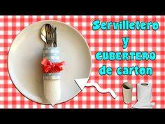 Servilletero o cubertero de cartón - YouTube