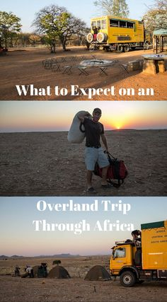 What to expect on an overland trip through Africa. Overlanding through Africa is a trending and extremely popular way to see the continent of Africa. Some people choose to rent their own vehicles and set off on their own adventures, while some enjoy the comforts of the group experience. Click to read the full adventure travel blog post at http://www.divergenttravelers.com/africa-with-oasis-overland/