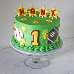 sports cakes for birthdays Birthday Cakes birthday Pinterest